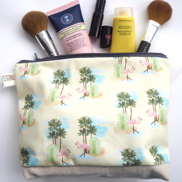Flamingo Wash Bag - Yellowstone Art Boutique
