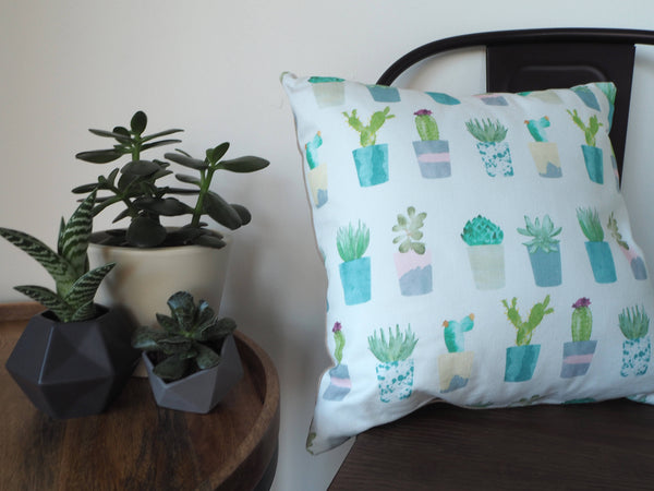 Succulent & Cacti Cushion - Yellowstone Art Boutique