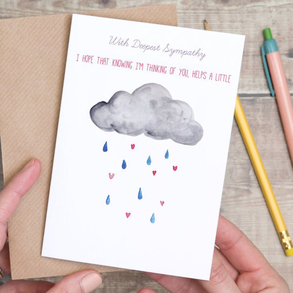With Deepest Sympathy Cloud Card - Yellowstone Art Boutique