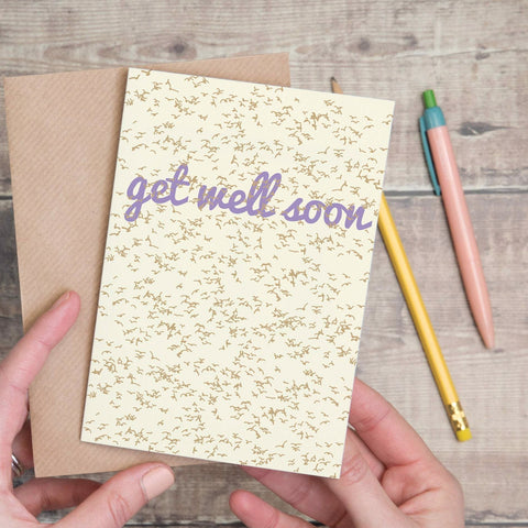 Get Well Soon 'Flock of Birds' Pattern Card - Yellowstone Art Boutique