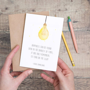 Lightbulb Albus Dumbledore Quote Card - Yellowstone Art Boutique