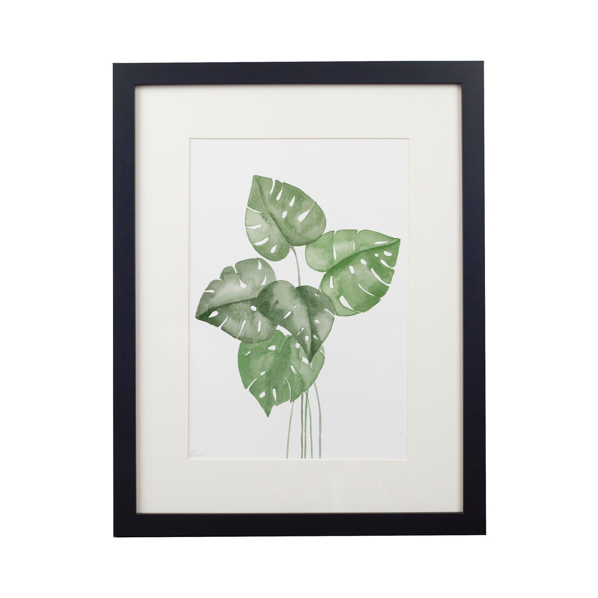 Monstera Leaves Art Print - Yellowstone Art Boutique