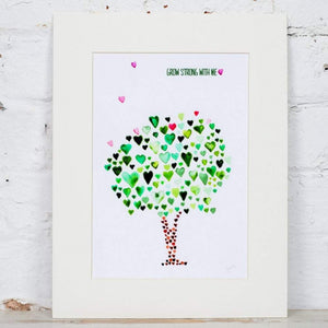 Green Tree of Hearts Art Print - Yellowstone Art Boutique