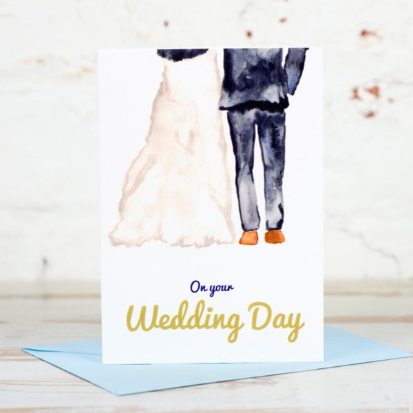 Bride & Groom Wedding Day Card - Yellowstone Art Boutique