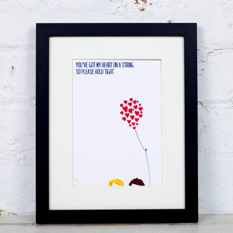 Heart on a String Balloon Art Print - Yellowstone Art Boutique
