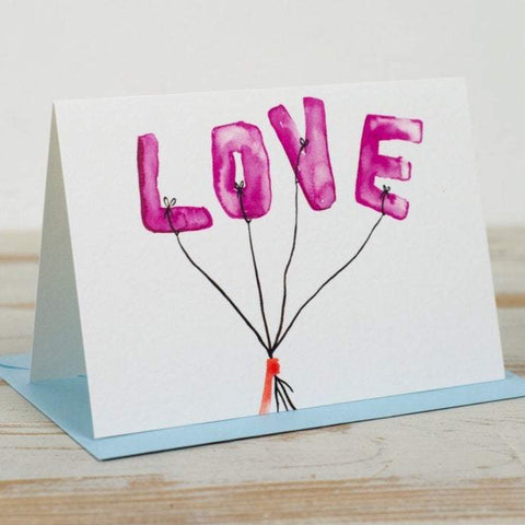 LOVE Balloons Card - Yellowstone Art Boutique