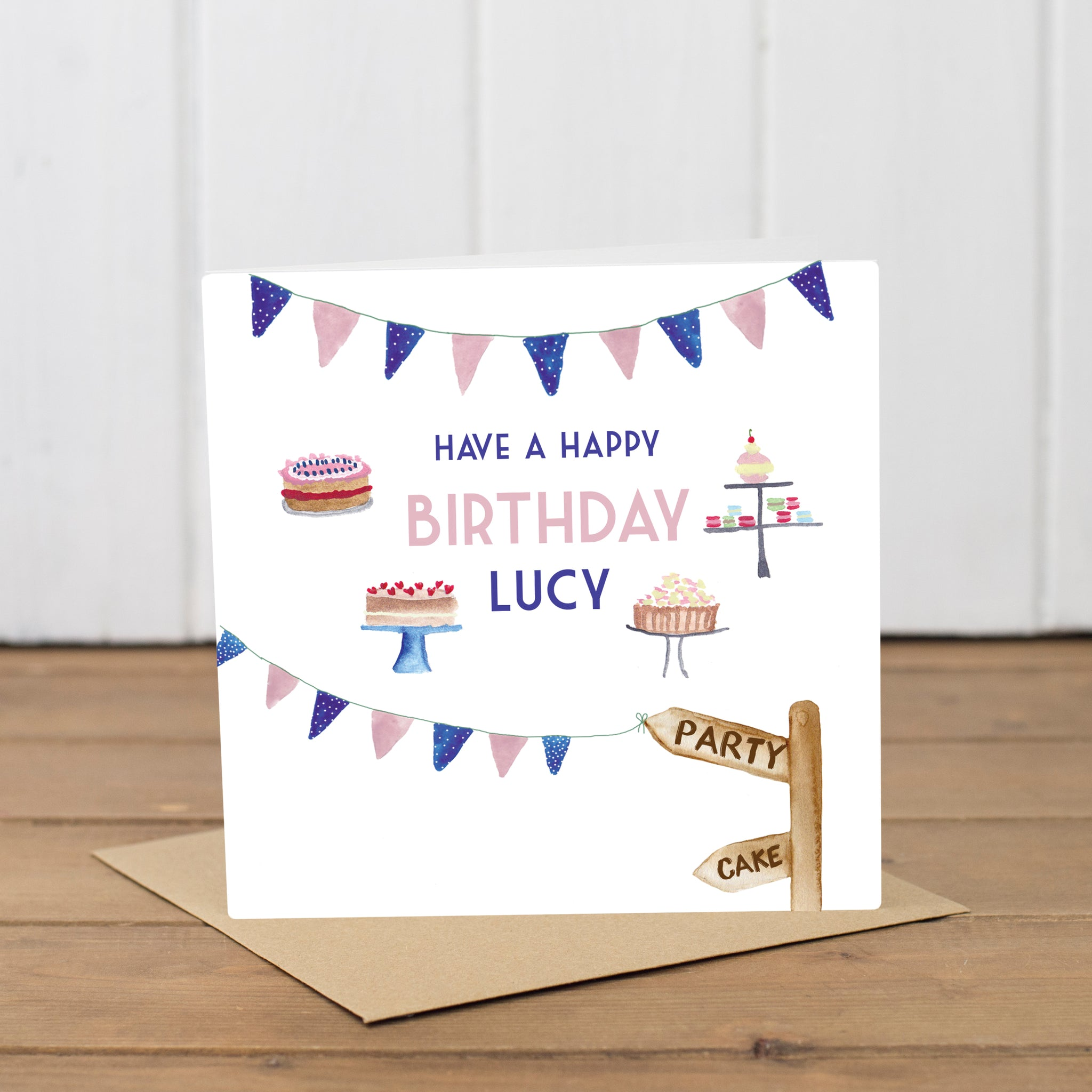 Personalised Party Cakes Birthday Card