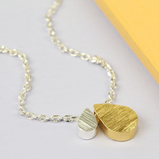 Mother & Baby Droplet Necklace