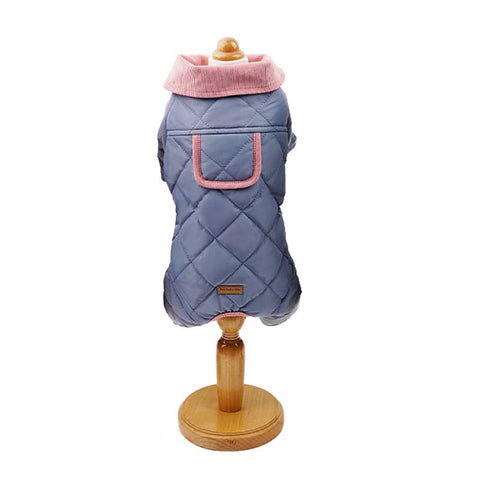 Rhombus Plaid Cotton padded Pet Coat