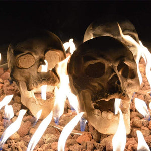 🔥Buy 5 FREE 3 Halloween Flash Sale-Terrifying Human Skull Fire Pit