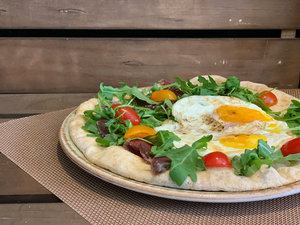 Baked Eggs Pizza - Layalina Deli and Organic Grocery