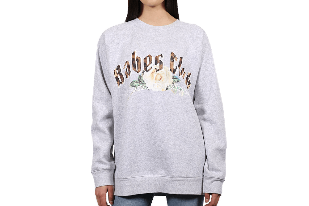 Brunette The Label Babes Club 1981 Big Sister Crew Sweatshirt