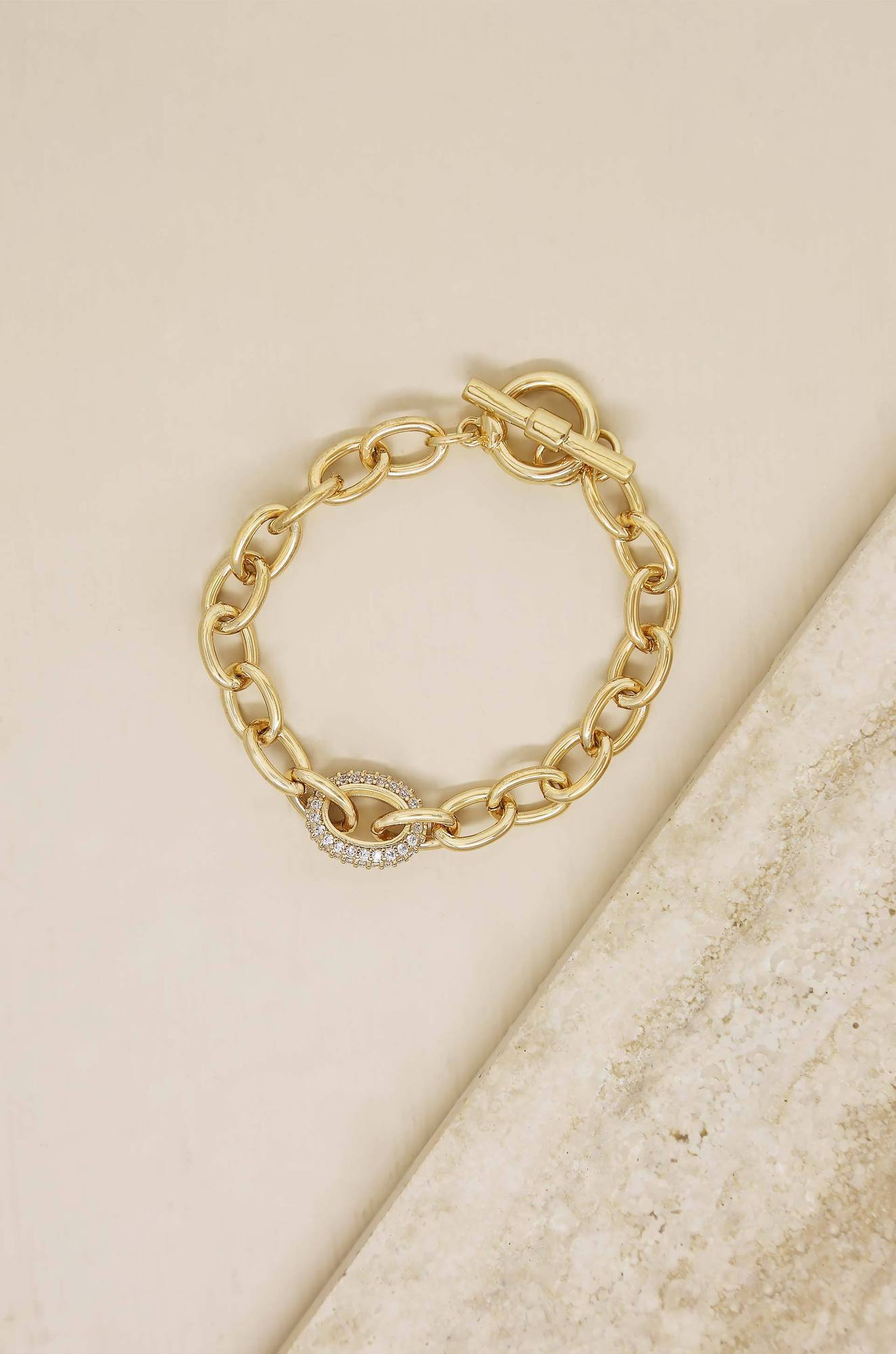 Ettika True to You 18k Gold Plated Chain Bracelet - Izzy & Gab