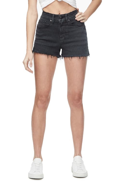 Good American Cut Off Deep Pocket Shorts