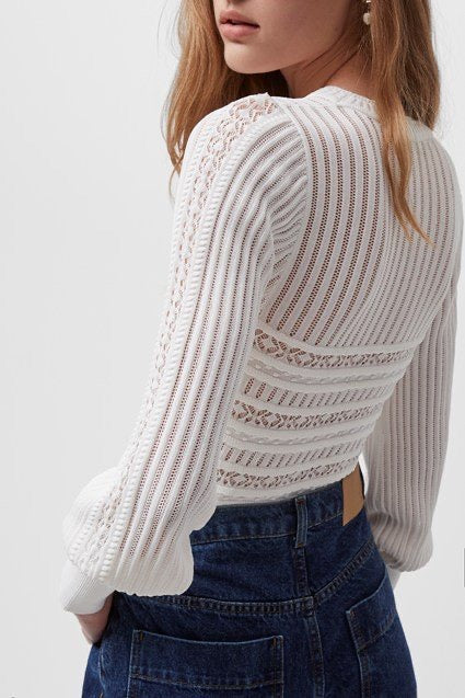 French Connection Orielle Knitted Puff Sleeve Jumper