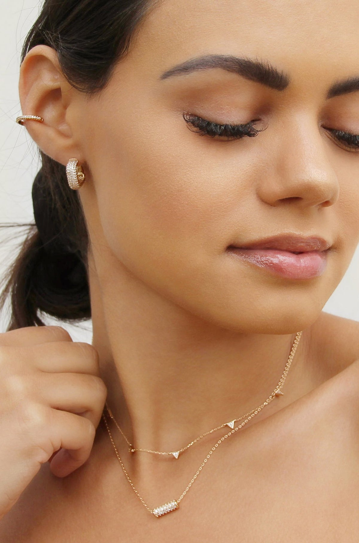 Ettika little reminders crystal mini hoop earrings - Izzy & Gab
