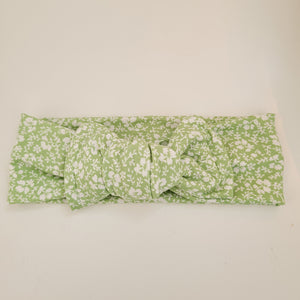 Green floral headwrap