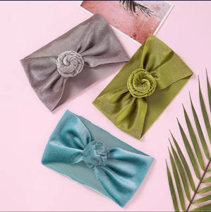 Velvet turban headwrap - 4 colours