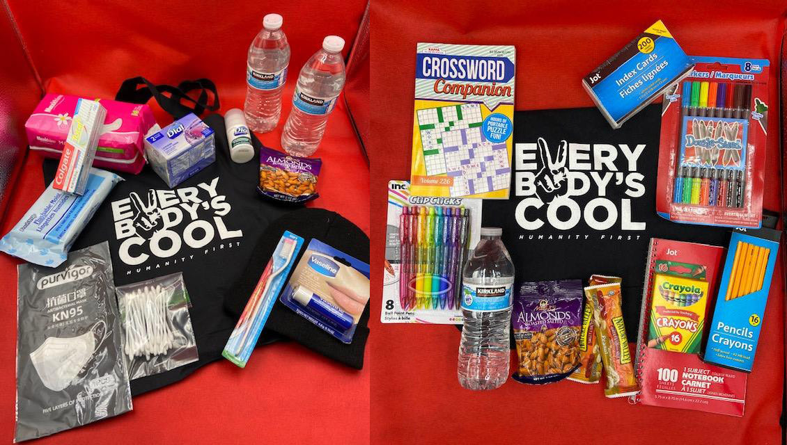 Every Bodys Cools Bags Program is a way to help struggling adults with necessary human supplies (toiletries, water, masks)