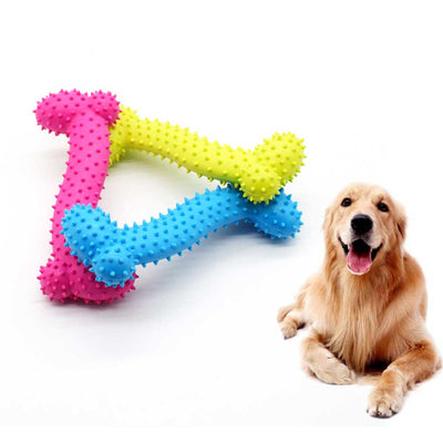 Rubber Dog Toy with Thorn Bone Rubber Molar Teeth - Pawsomatic