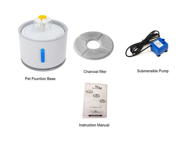 Automatic Cat Water Fountain LED - Pawsomatic