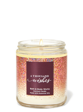 A THOUSAND WISHES Single Wick Candle - Classy & Unique