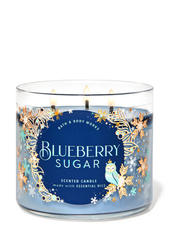 BLUEBERRY SUGAR 3-Wick Candle - Classy & Unique