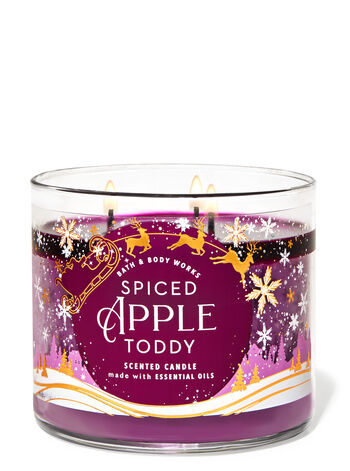 SPICED APPLE TODDY 3-Wick Candle - Classy & Unique