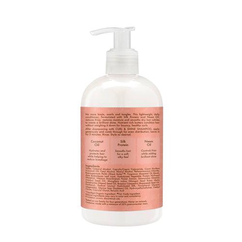 SheaMoisture Curl and Shine Conditioner to Restore and Smooth Dry Hair for Thick, Curly Hair, 13 oz - Classy & Unique