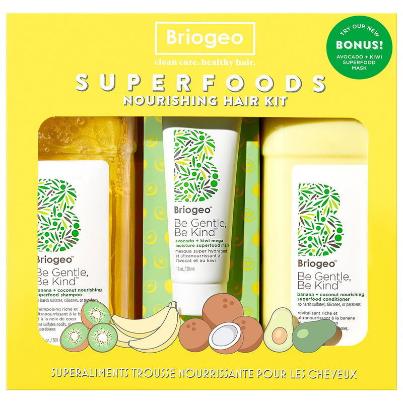 Briogeo Be Gentle, Be Kind Banana + Coconut Superfoods Nourishing Hair Value Set - Classy & Unique
