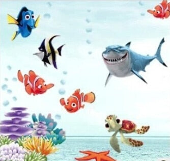 Colorful fish animals vinyl wall stickers - Classy & Unique