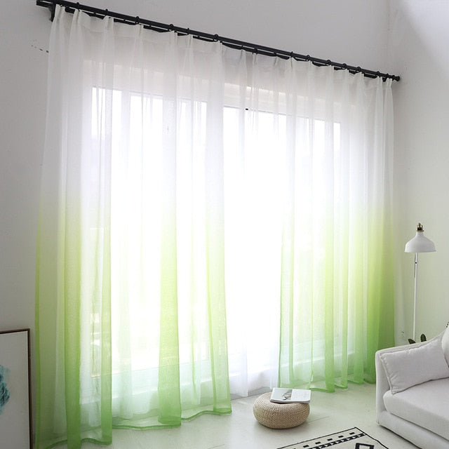 Gradient color window tulle curtains - Classy & Unique