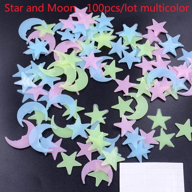 Star And Moon Luminous Wall Stickers - Classy & Unique
