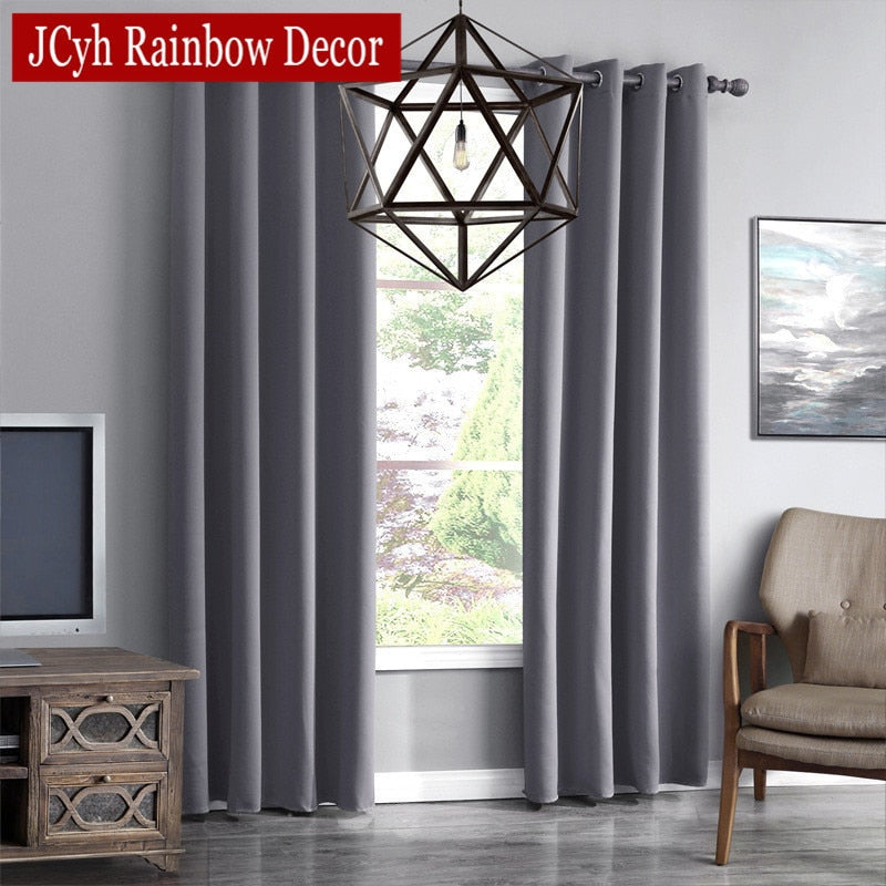 JRD Modern Blackout Curtains For Living Room Window Curtains For Bedroom Curtains Fabrics Ready Made Finished Drapes Blinds Tend - Classy & Unique
