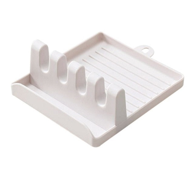 Kitchen Spoon Holders Fork Spatula Rack Shelf Organizer Plastic Chopsticks Holder Non-slip Spoons Pad - Classy & Unique