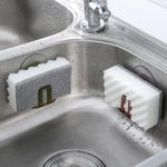 Kitchen Suction Cup Sink Drain Rack Sponge Storage Holder Kitchen Sink Soap Rack Drainer Rack Bathroom Accessories Organizer - Classy & Unique