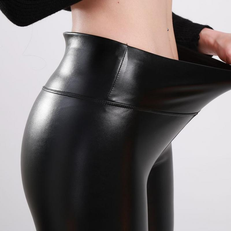Winter Leather Pants High Waist Warm - Classy & Unique