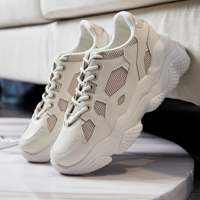 Women sneakers chunky Flat Platform / Casual Trainer Shoe - Classy & Unique