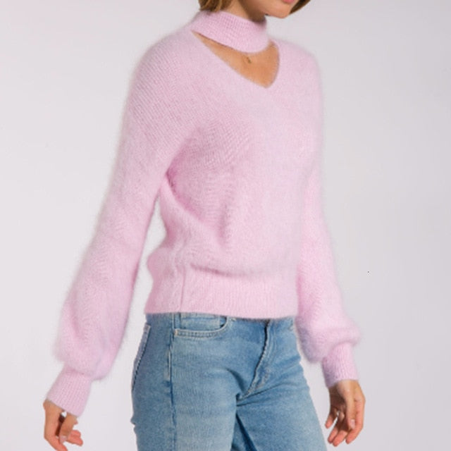 Knitted Sweaters Casual Soft Fluffy Pullovers Jumpers - Classy & Unique