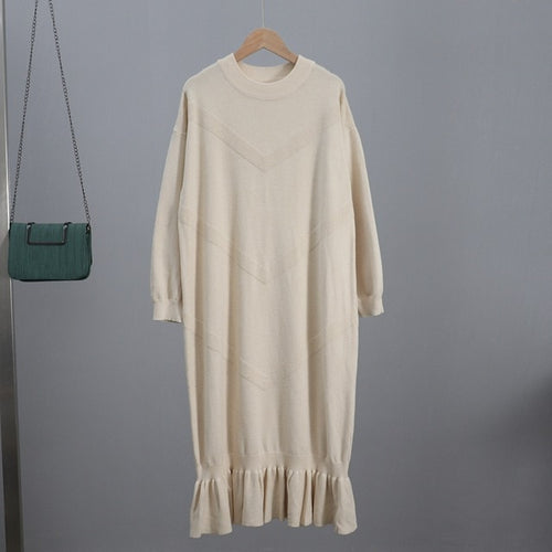 Oversized Long Women Maxi Sweater Dress - Classy & Unique
