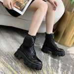 Lace Up High Quality Leather Boot Anti-slip Wear-resistant Comfortable Women Ankle Boot - Classy & Unique