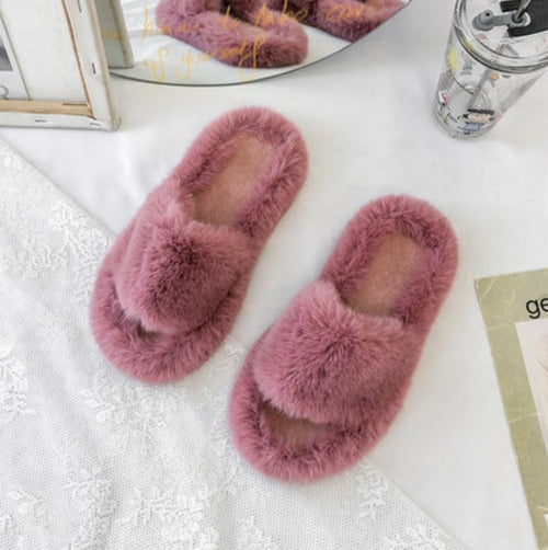 Walker Spring Plush Slippers/ Women's Winter Home Furry Ears Indoor Slippers - Classy & Unique