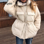 Casual Warm women jacket solid white autumn winter - Classy & Unique