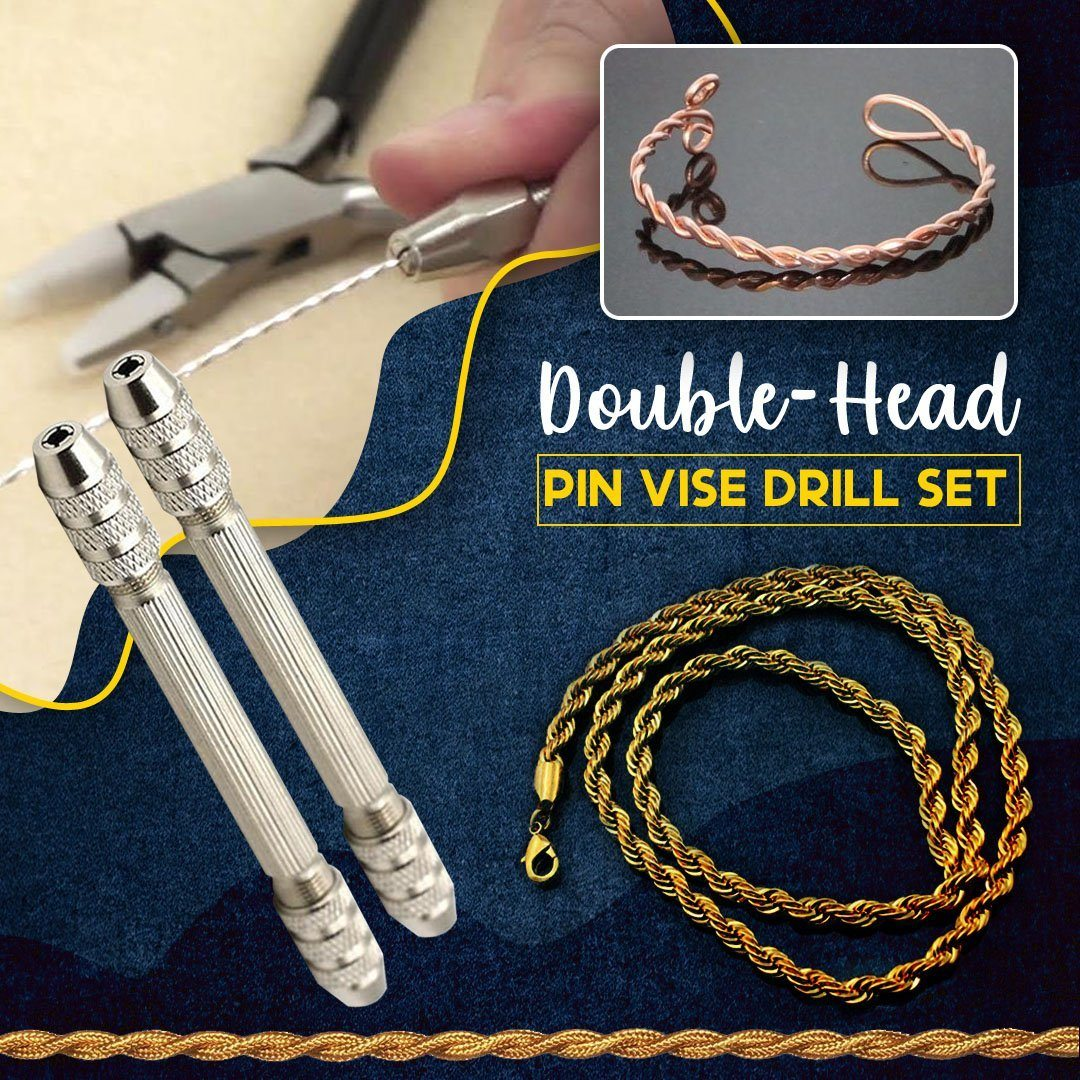 Double-Head Pin Vise Drill Set