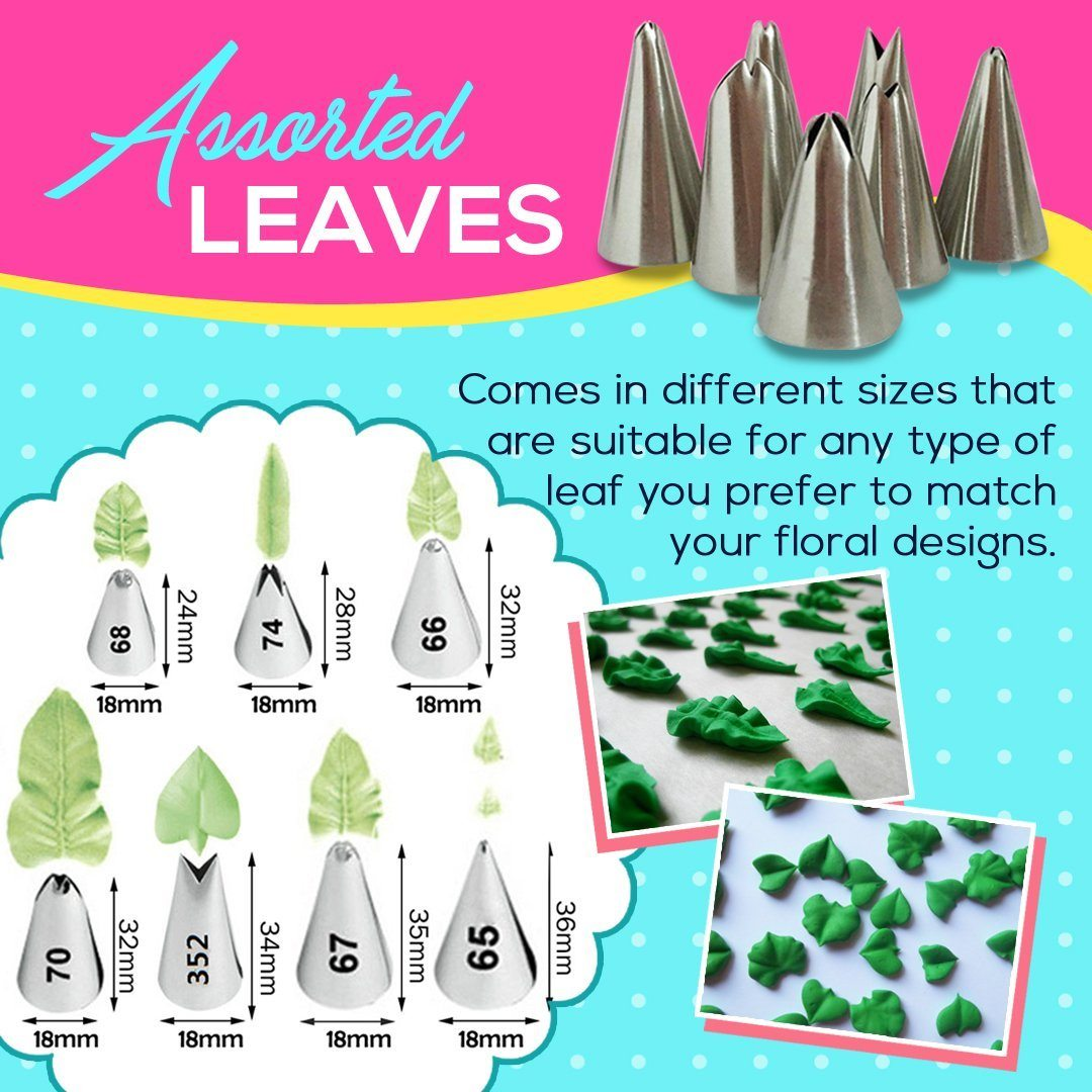 Leaf Shape Icing Nozzle (7pcs per Set)