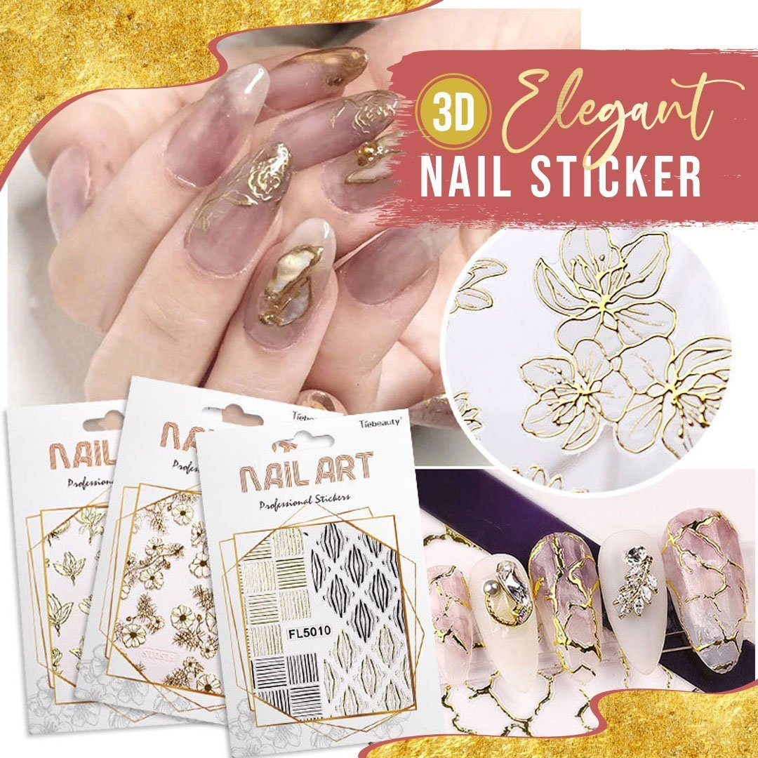 Elegant 3D Nail Sticker