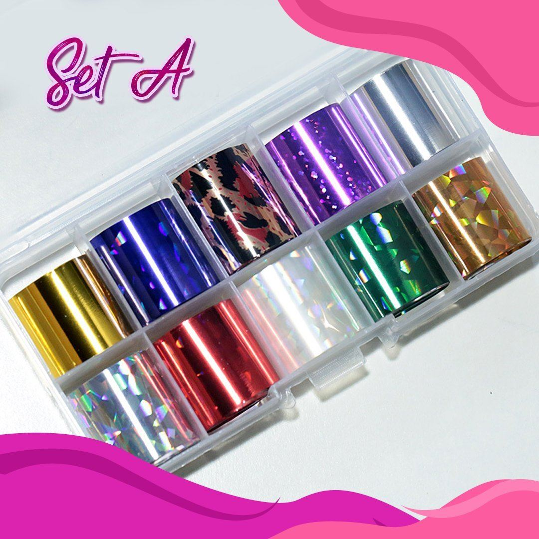 🌟Star Foil Glitters DIY Nail Sticker