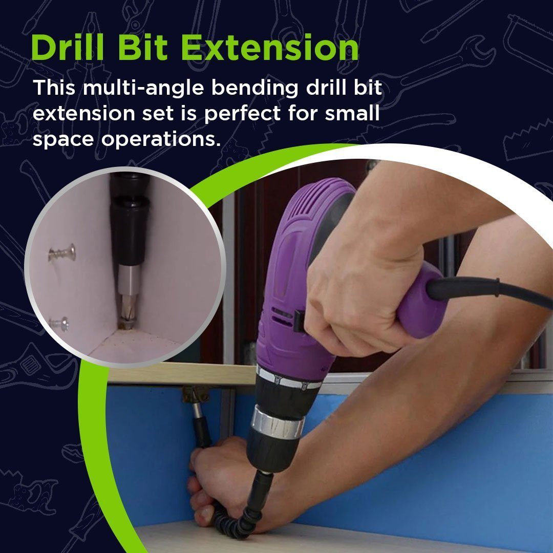 Multi-Angle Bending Drill Bit Extension