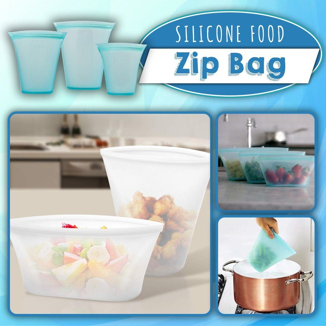 Silicone Food Zip Bag