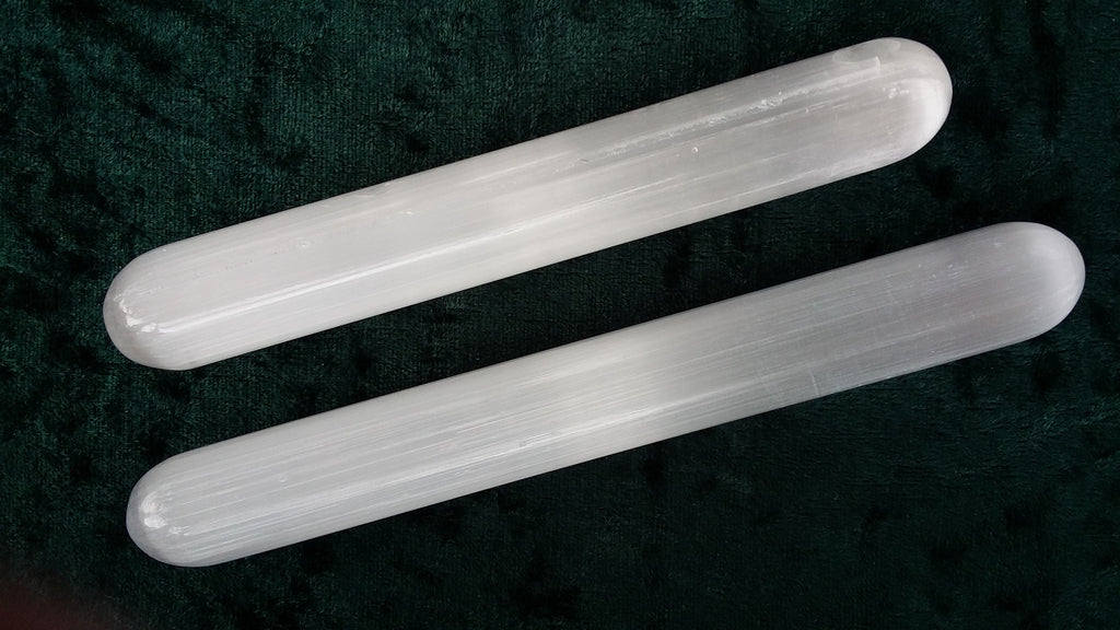 Selenite Rounded Wand